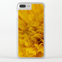 Yellow Marigold Clear iPhone Case