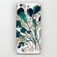 emerald iPhone & iPod Skins featuring Emerald by Tonya Doughty