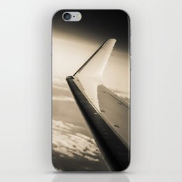 Airplane View Black and White iPhone Skin