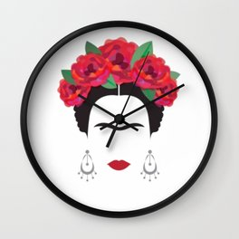 Frida eyebrowns Wall Clock
