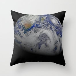 A Sky View of Earth Throw Pillow