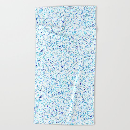 Dashed Waves Beach Towel