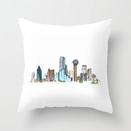 downtown dallas skyline Throw Pillow
