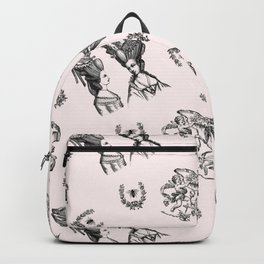 Rococo Toile in Pink Royal Icing Backpack