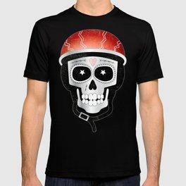 Halloween Cyclist Sugar Skull T-shirt