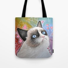 Grumpy Cat, This is my Happy Face Tote Bag