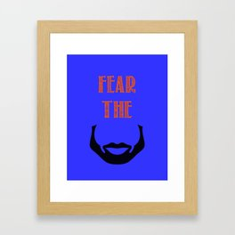 fear the beard - okc Framed Art Print