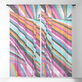Stripe Seasons Sheer Curtain