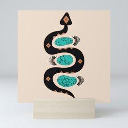 Southwestern Slither in Black Mini Art Print