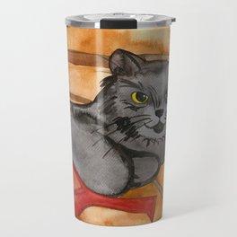 Cat in the Sauna Travel Mug