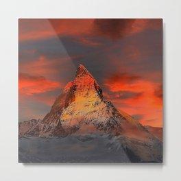 Mountain Matterhorn Switzerland Metal Print