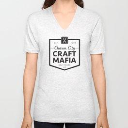 CCCM T-shirt Black and White Unisex V-Neck