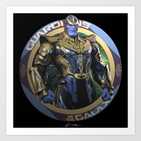 thanos Art Prints featuring Thanos - Guardians of the Galaxy by Leamartes