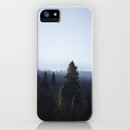 Wanderlusting within the trees iPhone Case