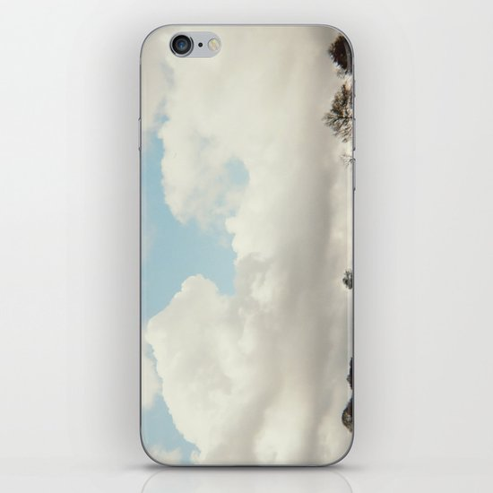 clouds and trees iPhone & iPod Skin