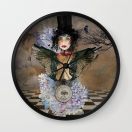 Lady in a Black Hat Wall Clock