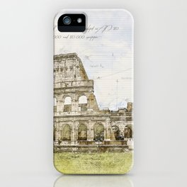 Colosseum, Rome Italy iPhone Case