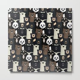 Bears of the world pattern Metal Print