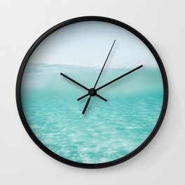 Summer waves on the perfect beach Wall Clock