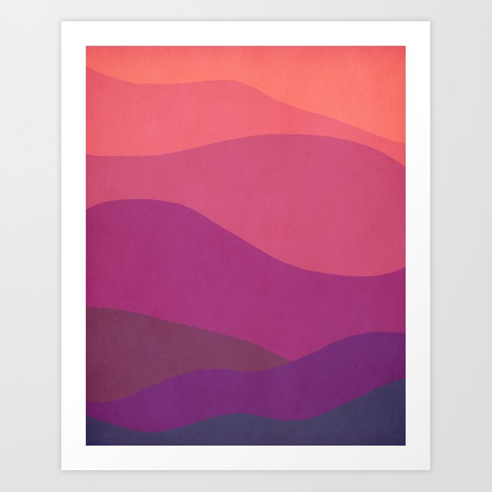 Undulations Art Print