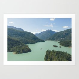 Diablo Lake Art Print