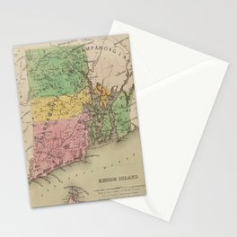 Native American Tribes and Territories of Pre-Colonial Rhode Island and Southern New England Vintage Stationery Cards