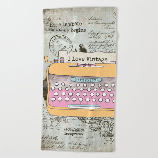 Typewriter #1 Beach Towel