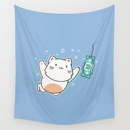 Nevermind Cat Wall Tapestry