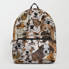 Social English Bulldog Backpack