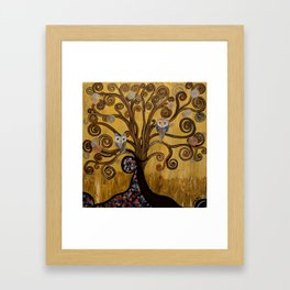 Original Acrylic Artwork By MiMi Stirn -  HooMasters Collection -HooKlimt #414 Framed Art Print