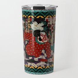 Kabuki Samurai Warriors Travel Mug