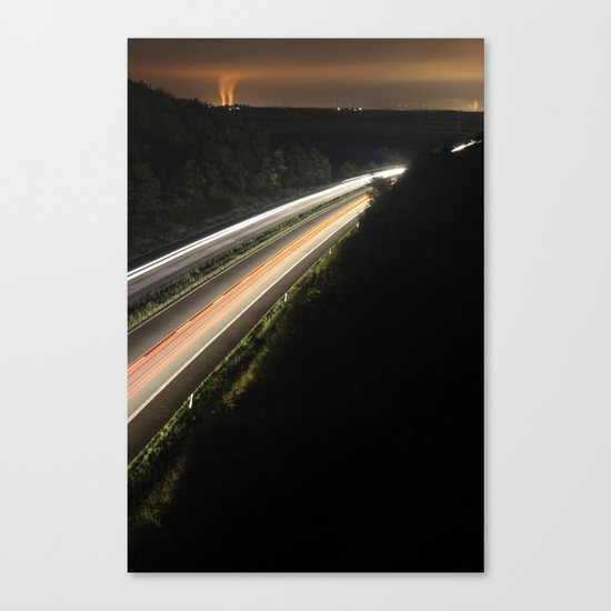 :: highway at night :: Canvas Print
