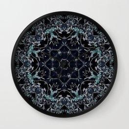 Dark Mandala Snow Flake Wall Clock