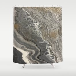 cozy marble Shower Curtain