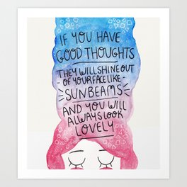 Good Thoughts Watercolour Art Print