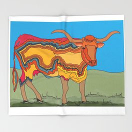 Texas Longhorn Throw Blanket