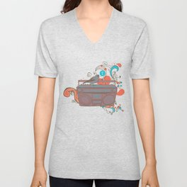 Retro Music Unisex V-Neck