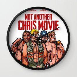 Not Another Chris Movie Wall Clock