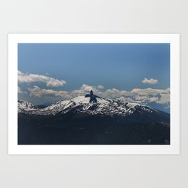 A View From Whistler Blackcomb, British Columbia, Canada Art Print
