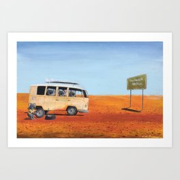 Going to the Beach Art Print