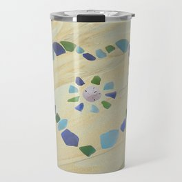 Seaglass heart Travel Mug