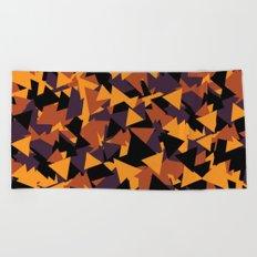 October Fall Season Pattern Halloween Mountain Triangle Beach Towel