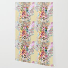 Ginkgo Spiralled Sunflower Wallpaper