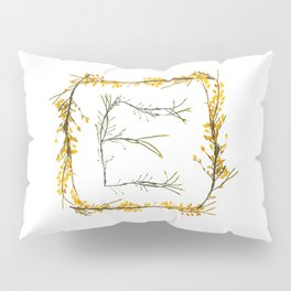 """Seaweed Alphabet """"E"""" Pillow Sham"""
