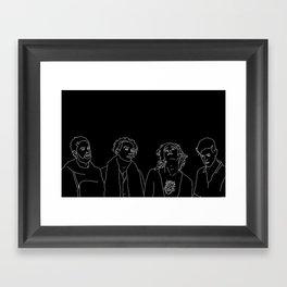 MATTY // ROSS // GEORGE // ADAM Framed Art Print
