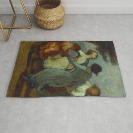 """Honoré Daumier """"Une Ronde D'enfants (Enfants Dansant En Rond - Ronde De Jeunes Filles)"""" Rug"""