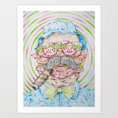 If Bill Murray was a Triple Bacon Cheeseburger Art Print