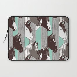 Waiting for the horse race // mint background Laptop Sleeve