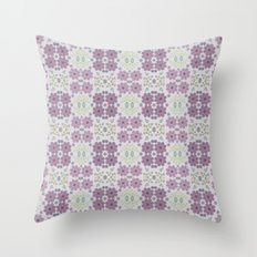 Wild Flowers in Lavender 3 Throw Pillow