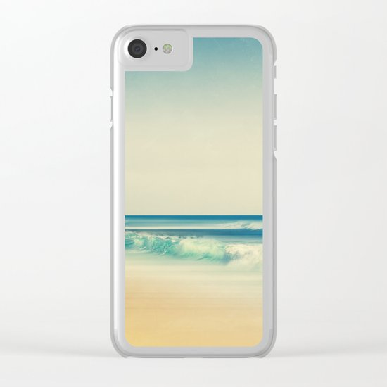 emerald surf Clear iPhone Case
